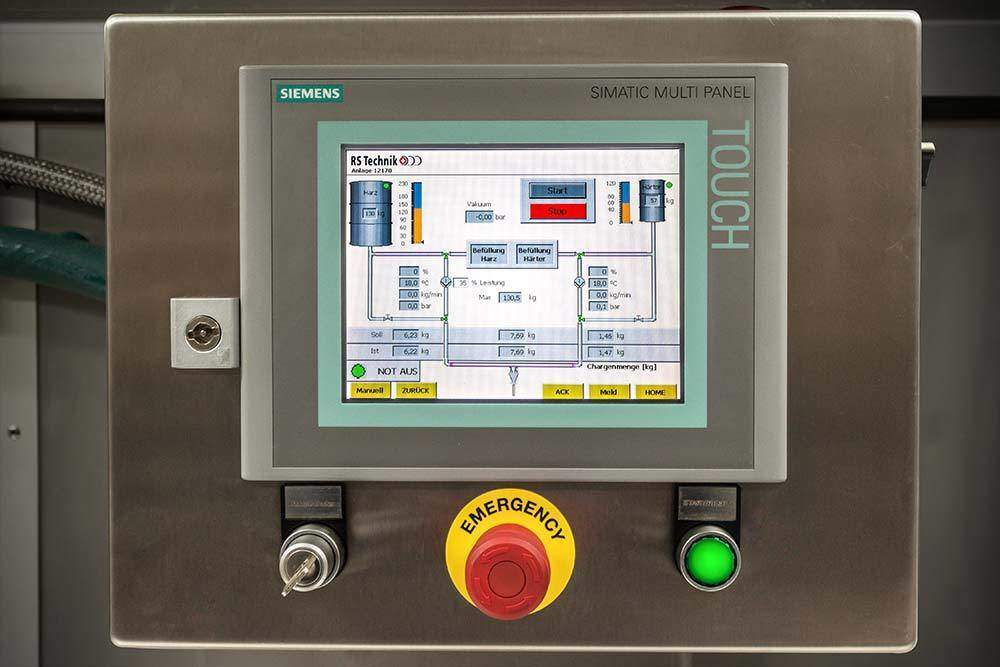 RS Mixing Unit Siemens Touchpaneel