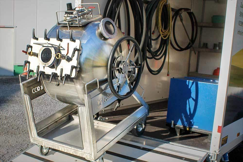 RS Dampfanhaenger Rohrsanierung und Kanalsanierung